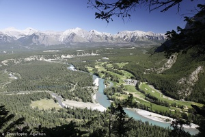 Bow River from Tunnel Mountain